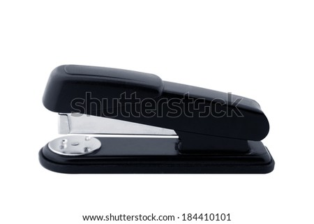 Black professional stapler isolated on white background - stock photo