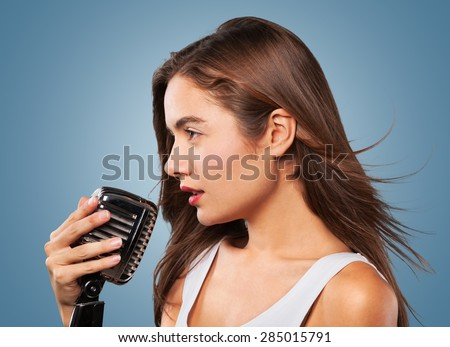 Black, profile, scream. - stock photo