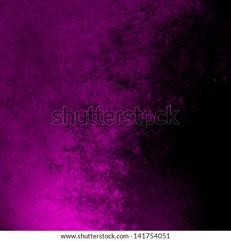 black purple background pink color splash rough distressed vintage grunge background texture abstract design, bright sidebar website template background, old messy retro wall style paint background - stock photo