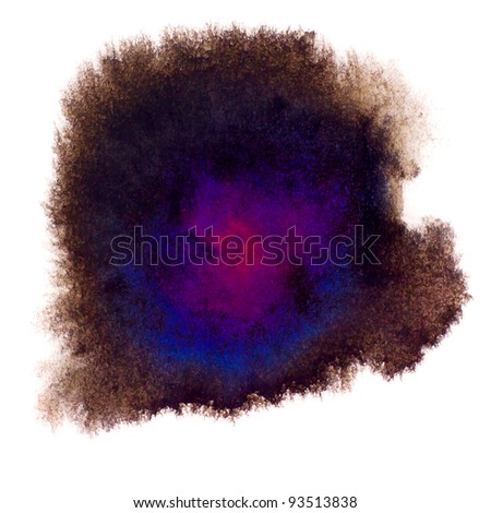 black purple macro spot blotch texture isolated on a white background - stock photo