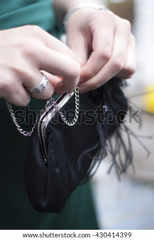 Black Purse - stock photo