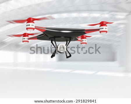 Black Quadcopter Drone HD Camera Flight Stock Illustration 291829841 ...