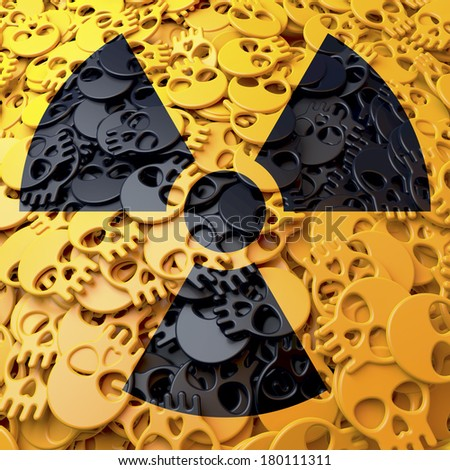 Black Radioactivity Symbol Nuclear Radiation Sign Stock Illustration