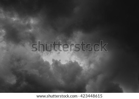 Black rainy cloud background