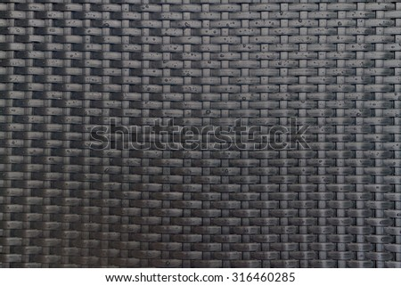 black rattan background with rain drops  - stock photo