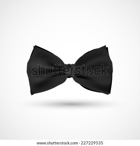 Black realistic bow - stock photo
