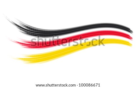 Black, red and yellow stripes - German flag abstract - stock photo