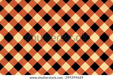 Black, red and yellow vintage crisscross pattern - stock photo