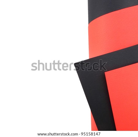 black red  sheet of paper - stock photo