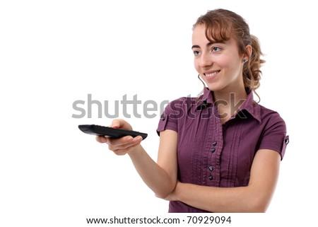 Black remote control - stock photo