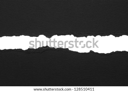 Black ripped paper - stock photo