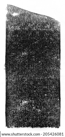 Black rolled ink texture - stock photo