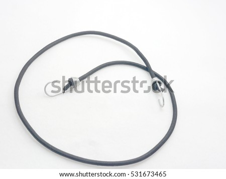 Black rope and white background