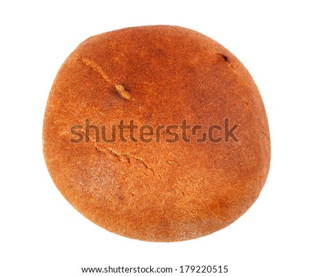 Black round bread isolated on a white background - stock photo