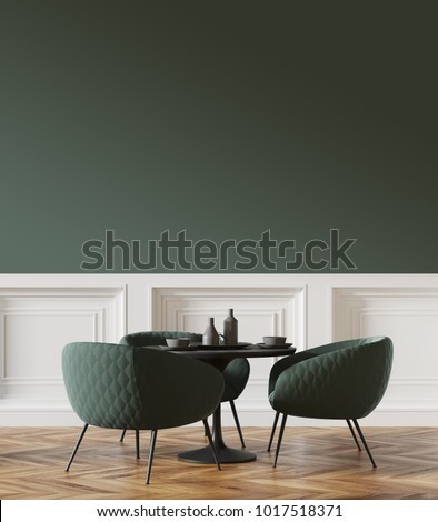 Black Round Table Standing Cafe Green Stock Illustration - Standing cafe table