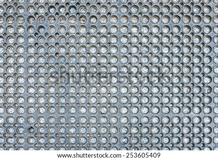 Black rubber mats near the pool of hotel. - stock photo