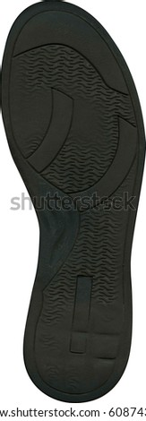 Black rubber sole - stock photo