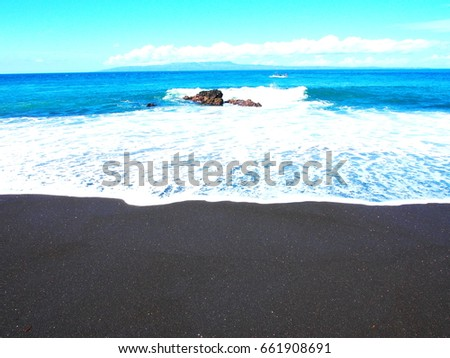 Black sand beach in Bali