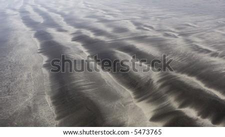 black sand of Tenerife, background - stock photo