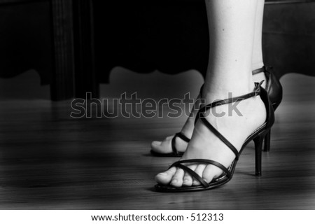 Black sandals - High key BW