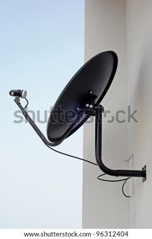 Black Satellite - stock photo