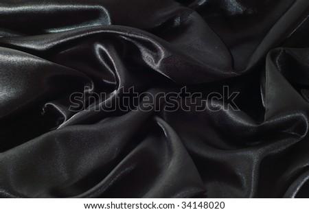 black satin - stock photo