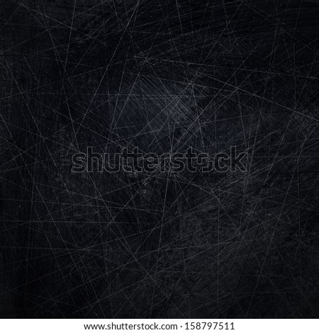 black scratched background or texture - stock photo
