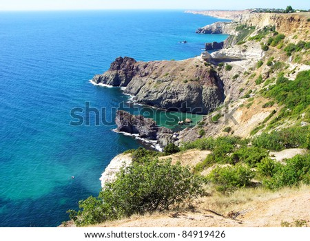 Black sea coast near Sevastopol, Crimea, Ukraine