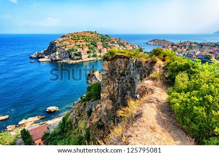 Black sea coast, Turkey - stock photo