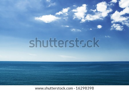 Black Sea. The peninsula of Crimea. Hot summer day. A sea of little waves. I want to go on the tour. Sea attracted and beckons.