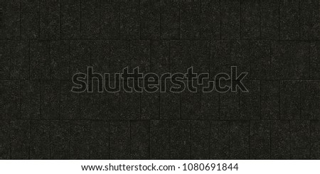 seamless black wall texture. Black Seamless Stone Block Wall Texture. Building Facade Background. Exterior Architecture Decorative House Facing Texture