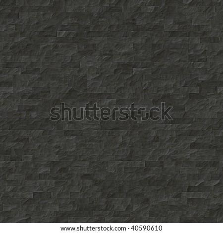 black seamless tiles texture - stock photo