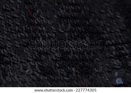 black sequins texture background - stock photo
