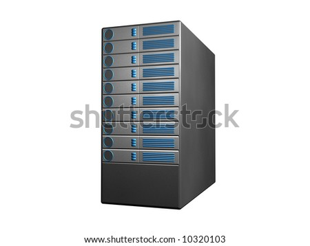 black server - stock photo