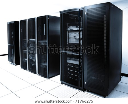 Black servers and hardwares in an internet data center