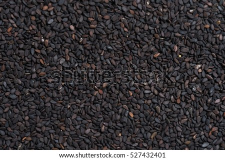 Black sesame seed background and textured