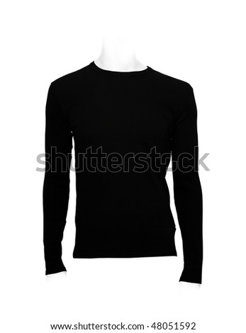 Black shirt. Photo with clipping path.