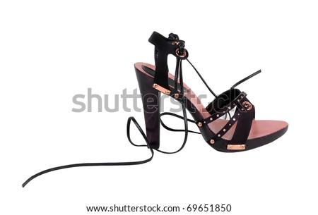 black shoe - stock photo