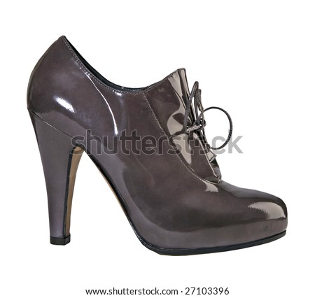 black shoe high heel