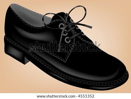 black shoe illustration - stock photo