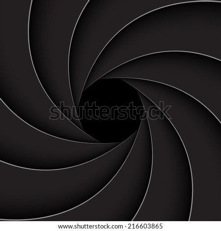 Black shutter aperture (Vector version is also available in my portfolio, ID 188398085)