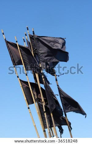 black signal flags