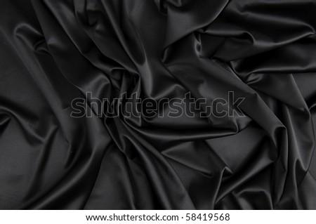 Black silk - stock photo
