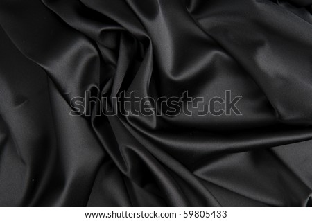 Black silk - stock photo