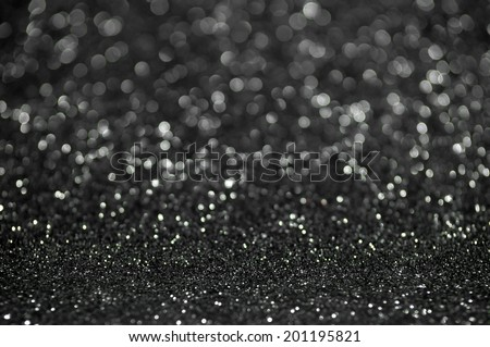 black silver glitter christmas abstract background - stock photo