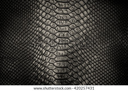 Black skin leather texture use for background - stock photo