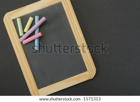Black slate over black background. Space for your text. - stock photo