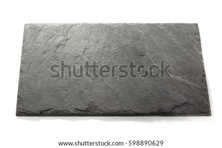 black slate signboard isolated on white background
