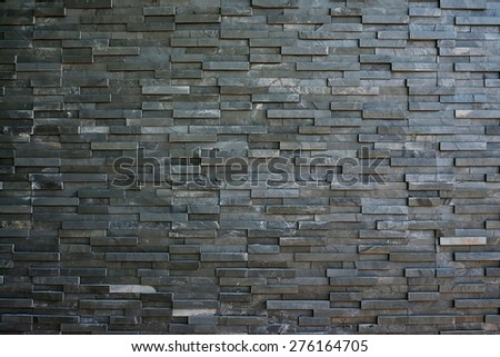 Black slate wall texture and background - stock photo