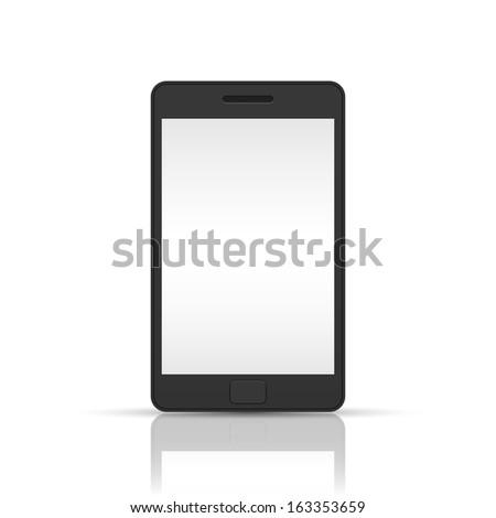 Black Smart phone - stock photo